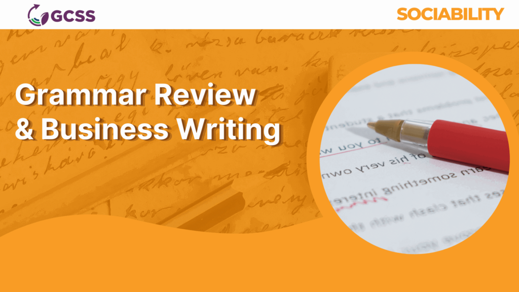 Grammar and Business Writing